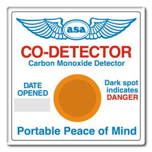 Bodový chemický detektor oxidu uhelnatého