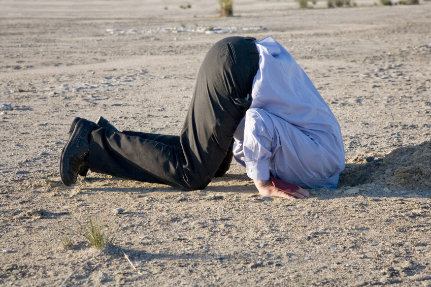 Hlava v písku